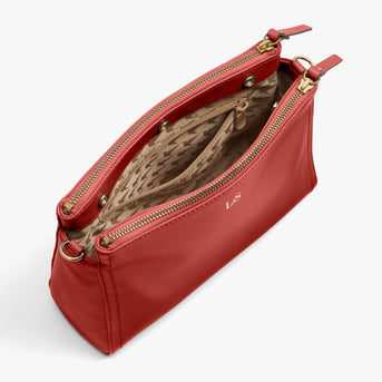 Interior Empty - Pearl - Nappa Leather - Santa Fe Red / Gold / Camel - Crossbody Bag - Lo & Sons