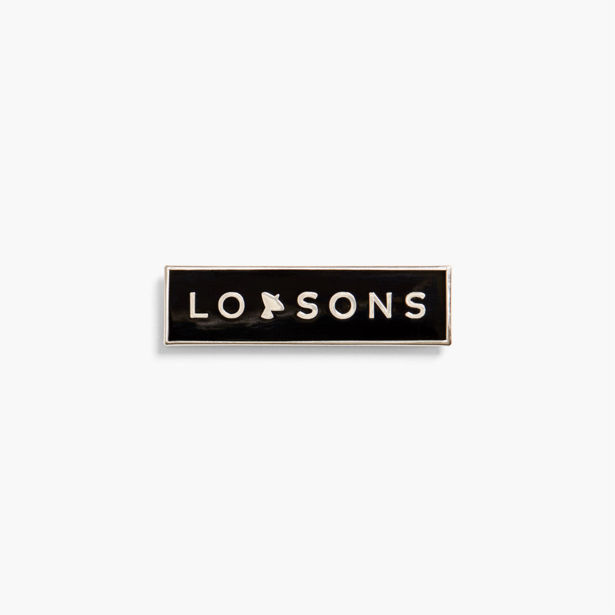 Front - The Pin LS Wordmark Telescope - Metal - Black - Small Accessory - Lo & Sons