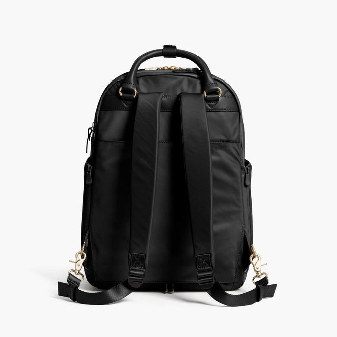 Back - Rowledge - Nylon - Black / Gold / Camel - Backpack - Lo & Sons