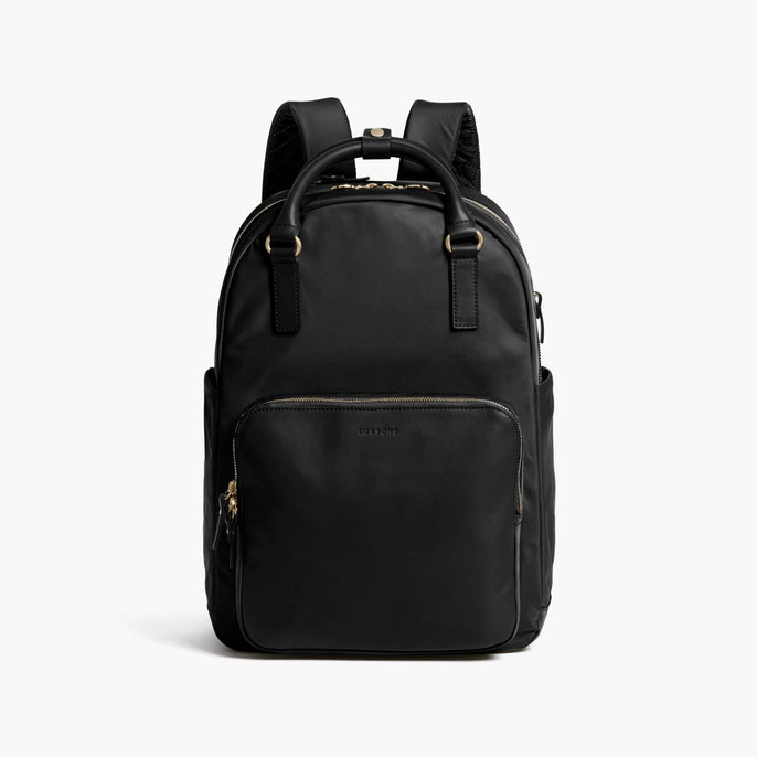 Front - Rowledge - Nylon - Black / Gold / Camel - Backpack - Lo & Sons