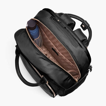 Interior Empty - Rowledge - Nylon - Black / Gold / Camel - Backpack - Lo & Sons