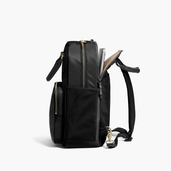 Laptop Compartment - Rowledge - Nylon - Black / Gold / Camel - Backpack - Lo & Sons