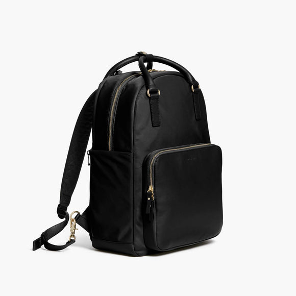 Side - Rowledge - Nylon - Black / Gold / Camel - Backpack - Lo & Sons