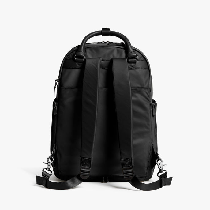 Back - Rowledge - Nylon - Black / Gunmetal / Grey - Backpack - Lo & Sons