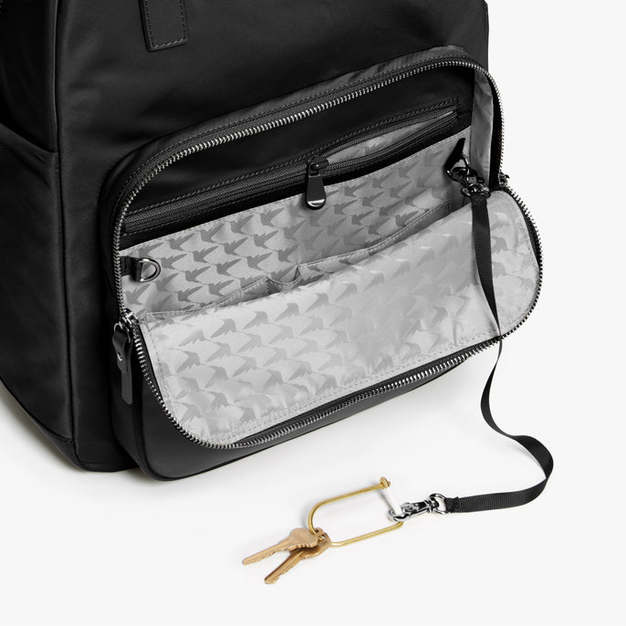 Pocket - Rowledge - Nylon - Black / Gunmetal / Grey - Backpack - Lo & Sons