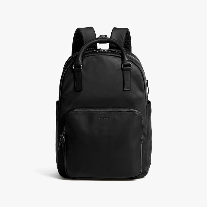 Front - Rowledge - Nylon - Black / Gunmetal / Grey - Backpack - Lo & Sons