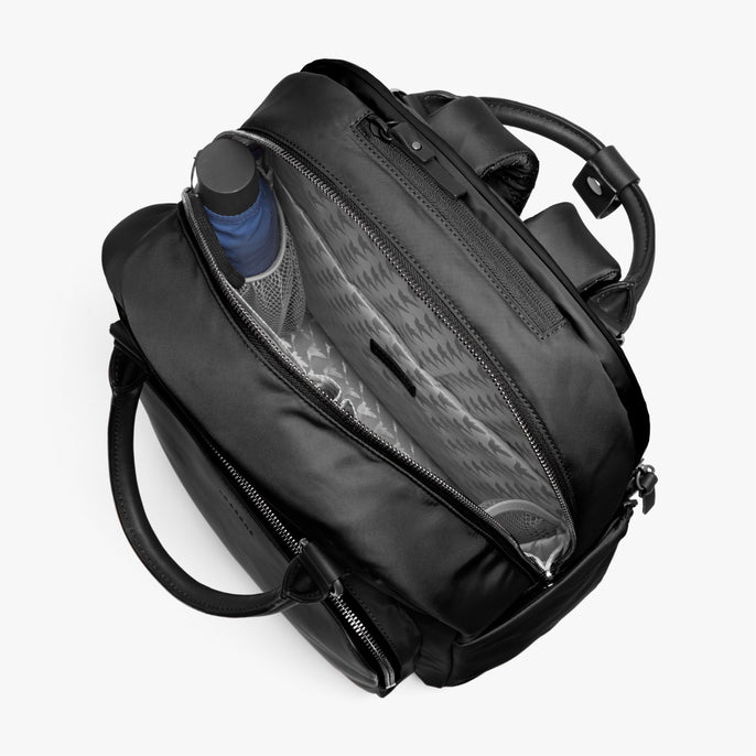 Interior Empty - Rowledge - Nylon - Black / Gunmetal / Grey - Backpack - Lo & Sons