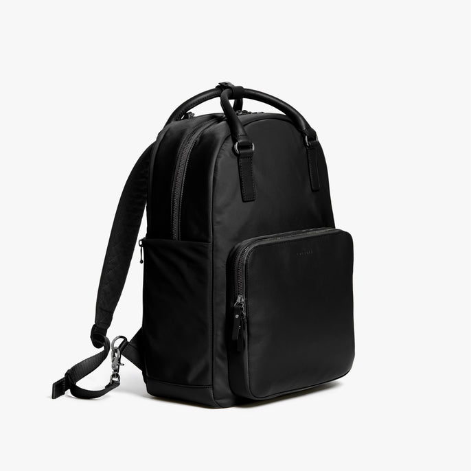 Side - Rowledge - Nylon - Black / Gunmetal / Grey - Backpack - Lo & Sons