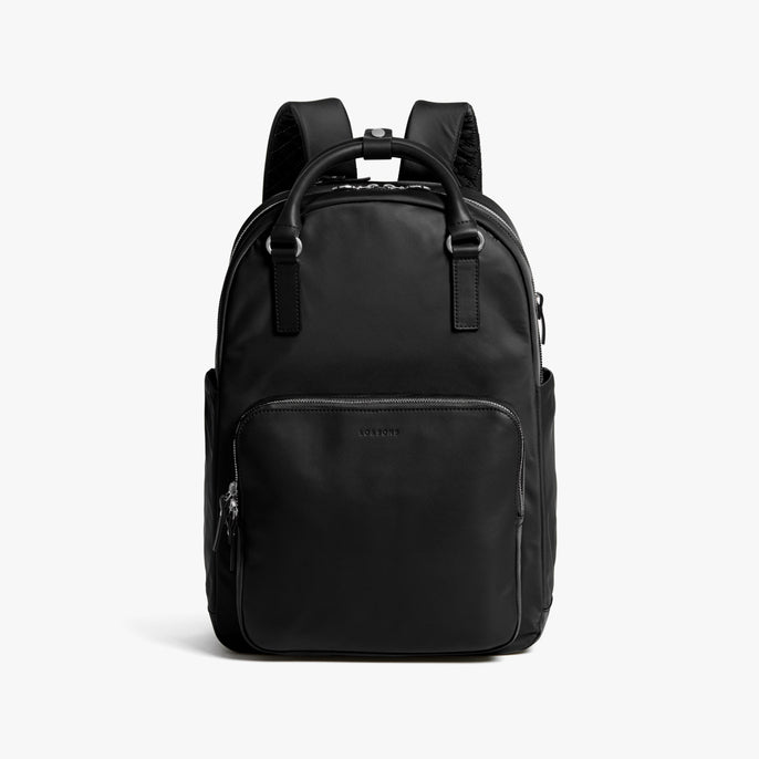 Front - Rowledge - Nylon - Black / Silver / Lavender - Backpack - Lo & Sons