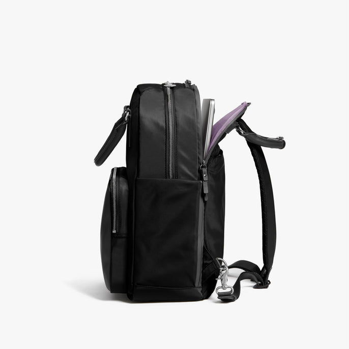Laptop Sleeve - Rowledge - Nylon - Black / Silver / Lavender - Backpack - Lo & Sons