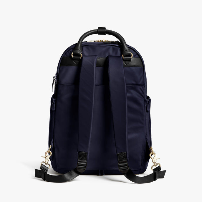 Back - Rowledge - Nylon - Deep Navy / Gold / Camel - Backpack - Lo & Sons