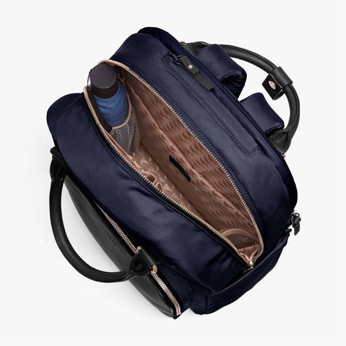 Interior Empty - Rowledge - Nylon - Deep Navy / Gold / Camel - Backpack - Lo & Sons