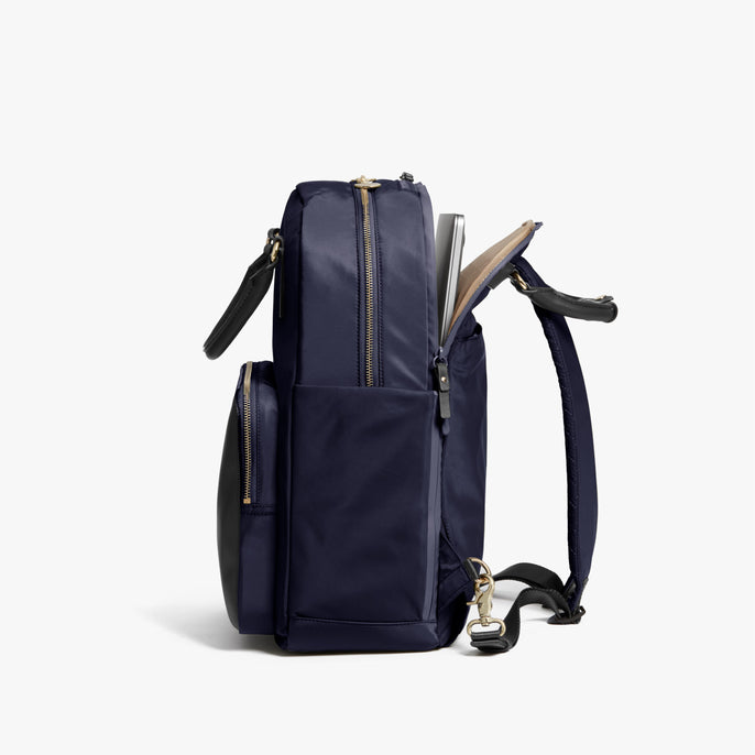 Laptop Sleeve - Rowledge - Nylon - Deep Navy / Gold / Camel - Backpack - Lo & Sons