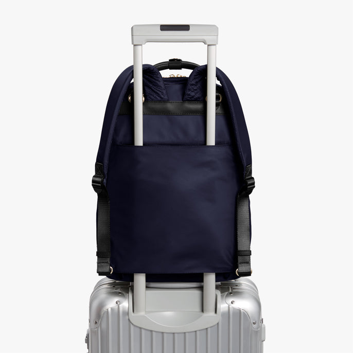 Luggage Sleeve - Rowledge - Nylon - Deep Navy / Gold / Camel - Backpack - Lo & Sons