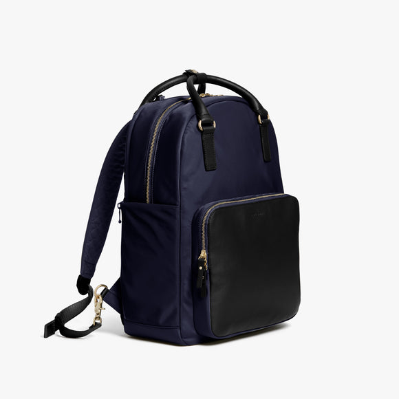 Side - Rowledge - Nylon - Deep Navy / Gold / Camel - Backpack - Lo & Sons