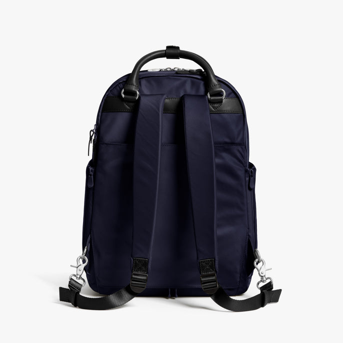 Back - Rowledge - Nylon - Deep Navy / Silver / Azure - Backpack - Lo & Sons