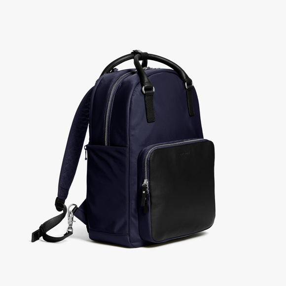 Side - Rowledge - Nylon - Deep Navy / Silver / Azure - Backpack - Lo & Sons