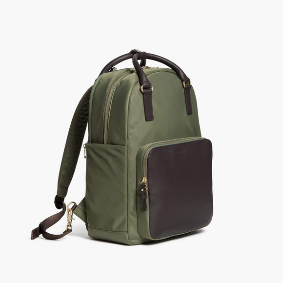 Side - Rowledge - Nylon - Sage Green / Gold / Camel - Backpack - Lo & Sons