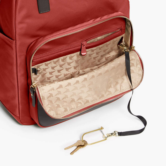 Front Pocket - Rowledge - Nylon - Santa Fe Red / Gold / Camel - Backpack - Lo & Sons