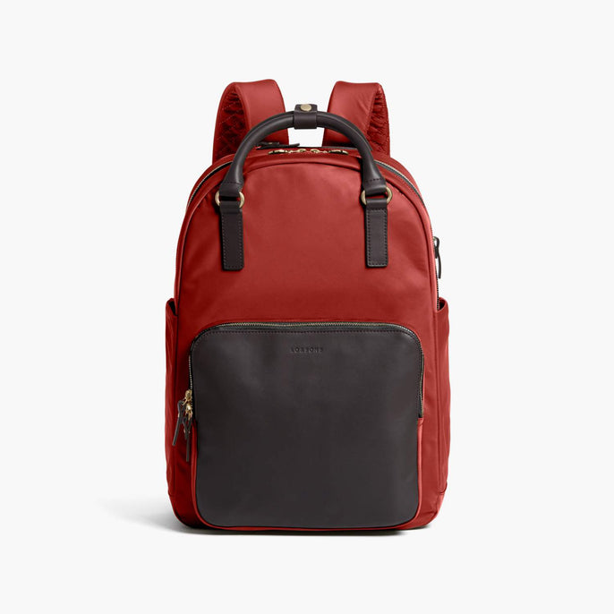 Front - Rowledge - Nylon - Santa Fe Red / Gold / Camel - Backpack - Lo & Sons