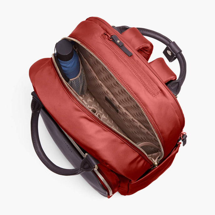 Interior Empty - Rowledge - Nylon - Santa Fe Red / Gold / Camel - Backpack - Lo & Sons