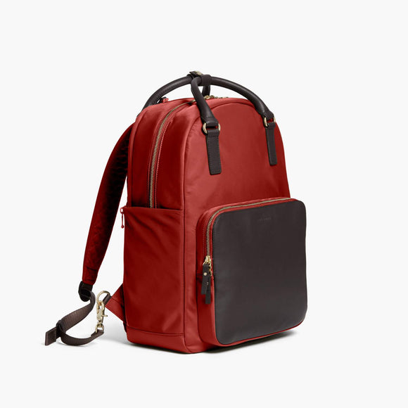 Side - Rowledge - Nylon - Santa Fe Red / Gold / Camel - Backpack - Lo & Sons