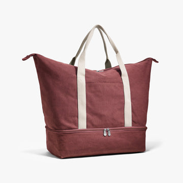 Side - The Catalina - Washed Canvas - Burgundy - Weekender - Lo & Sons