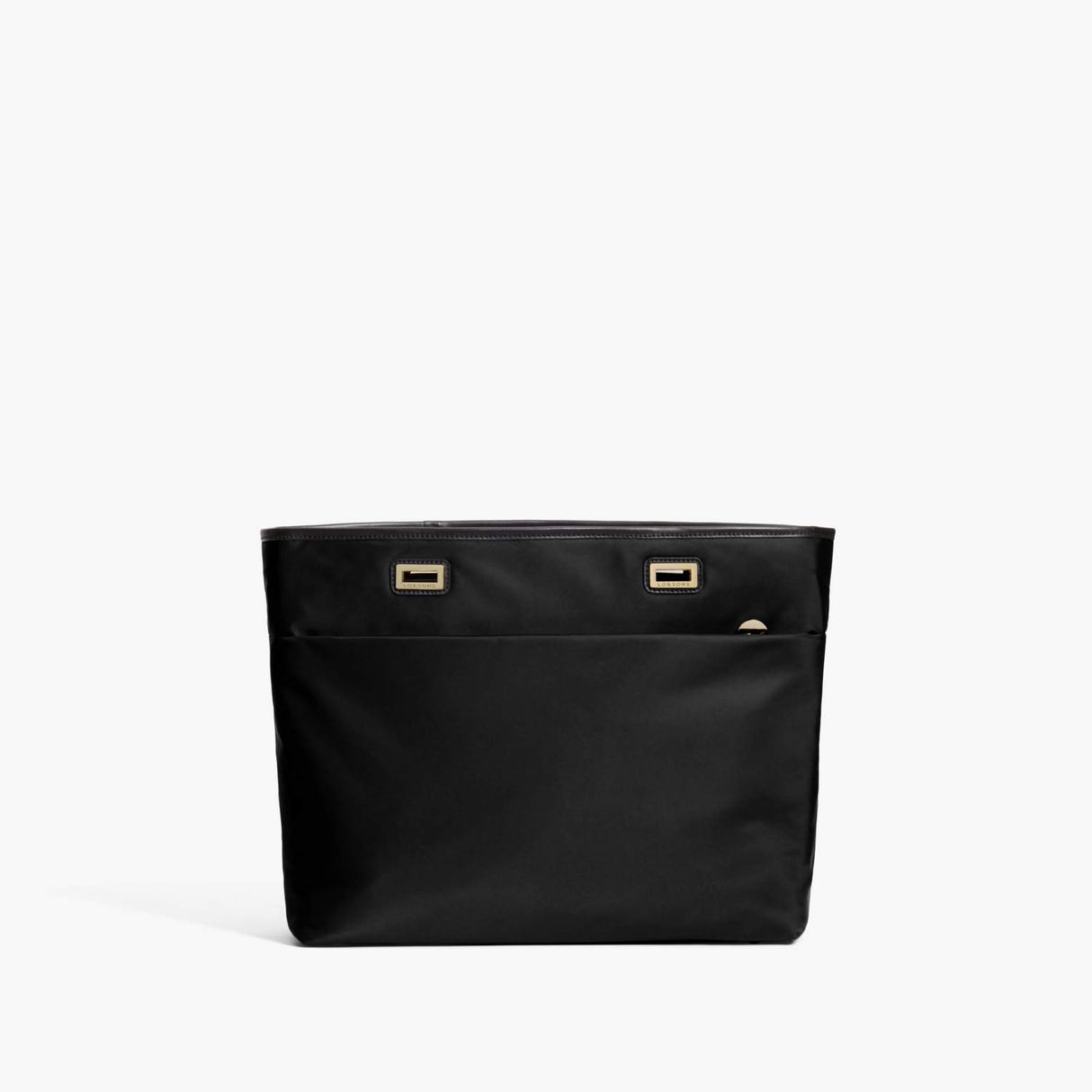 Front - The Seville Aire Shell - Nylon - Black / Gold / Black - Tote - Lo & Sons