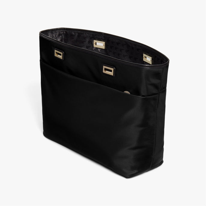 Side - The Seville Aire Shell - Nylon - Black / Gold / Black - Tote - Lo & Sons