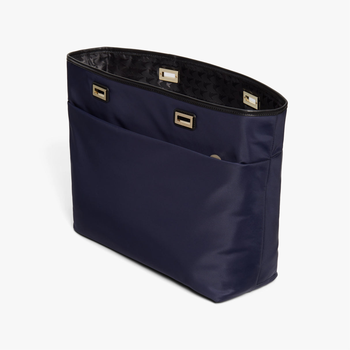 Side - The Seville Aire Shell - Nylon - Deep Navy / Gold / Black - Tote - Lo & Sons