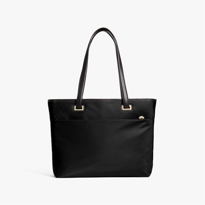 Front - The Seville Aire Tote - Nylon - Black / Gold / Grey - Tote - Lo & Sons