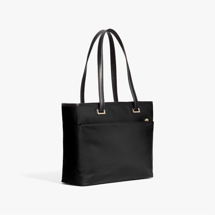 Side - The Seville Aire Tote - Nylon - Black / Gold / Grey - Tote - Lo & Sons