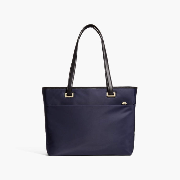 Front - The Seville Aire Tote - Nylon - Deep Navy / Gold / Grey - Tote - Lo & Sons
