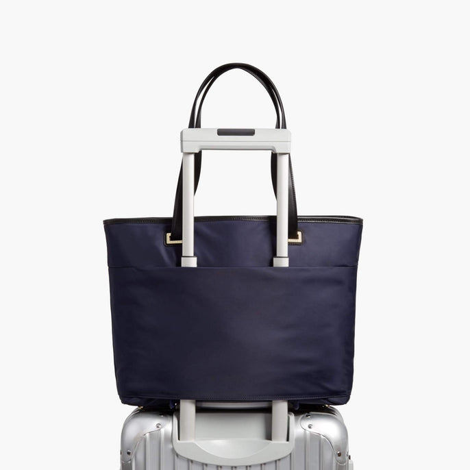 Luggage Sleeve - The Seville Aire Tote - Nylon - Deep Navy / Gold / Grey - Tote - Lo & Sons