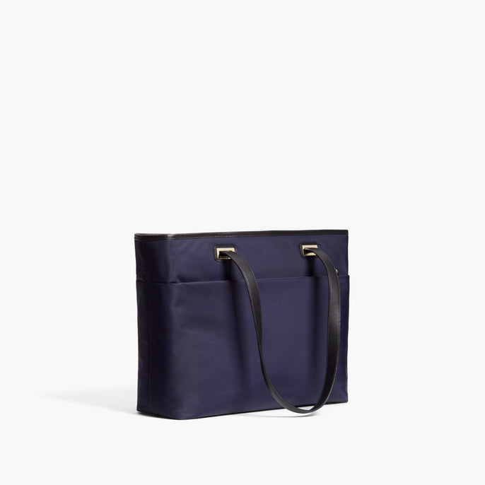 Alternate Side - The Seville Aire Tote - Nylon - Deep Navy / Gold / Grey - Tote - Lo & Sons