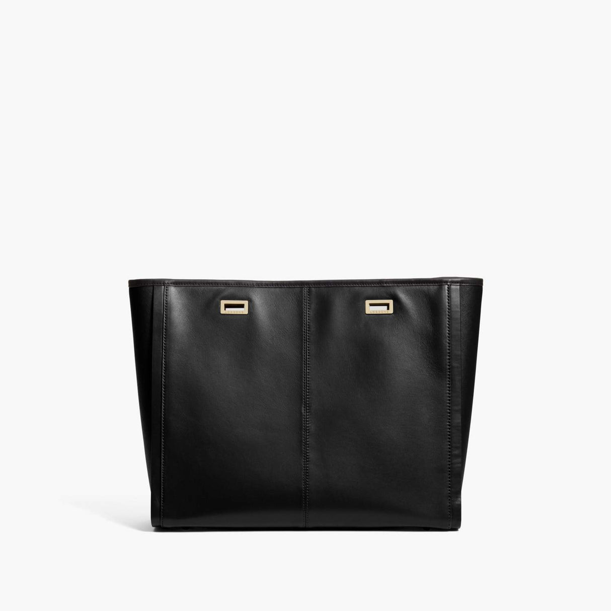 Back - The Seville Prima Shell - Nappa & Saffiano Leather - Black / Gold / Black - Tote - Lo & Sons