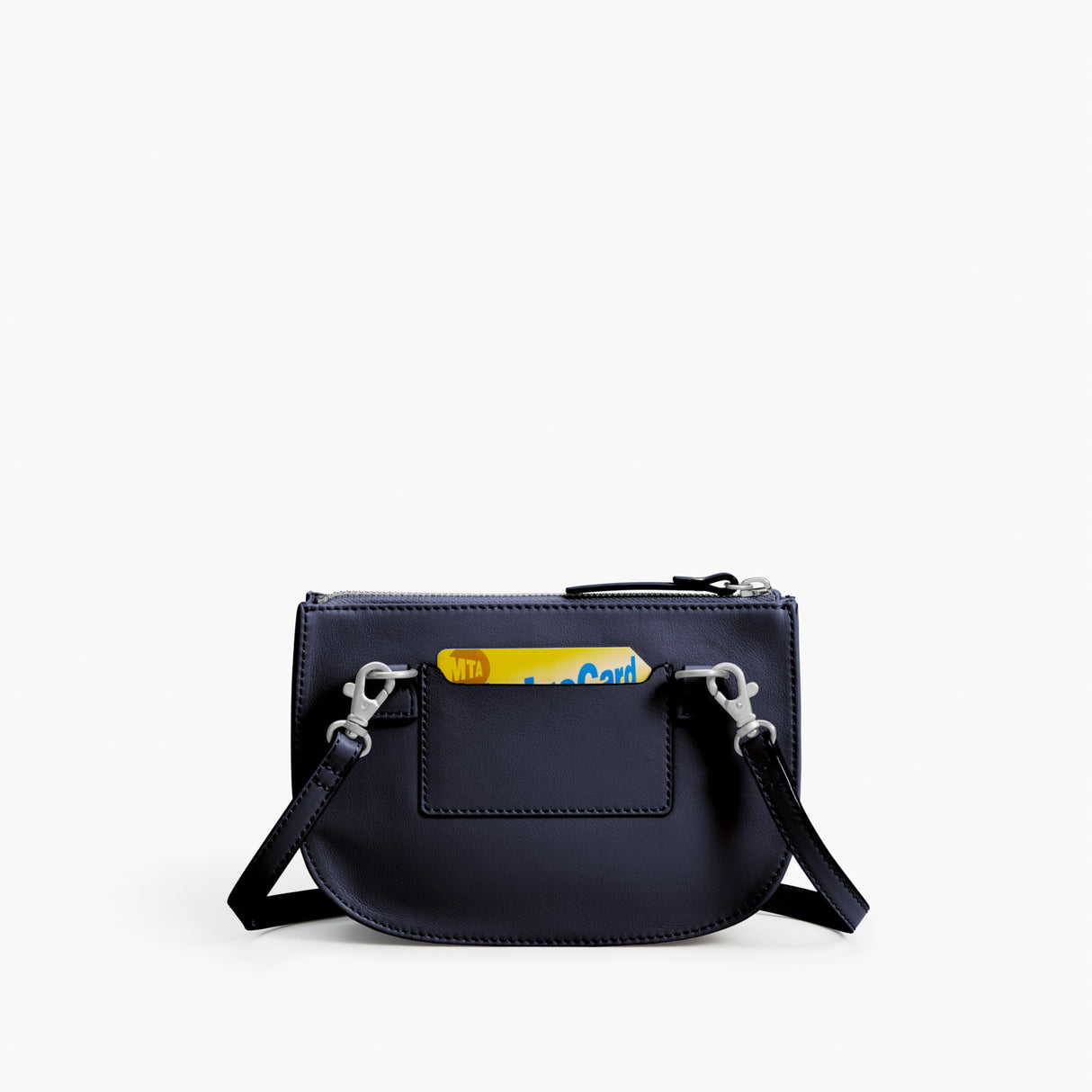 Back - The Waverley 2 - Nappa Leather - Deep Navy / Silver / Azure - Crossbody - Lo & Sons