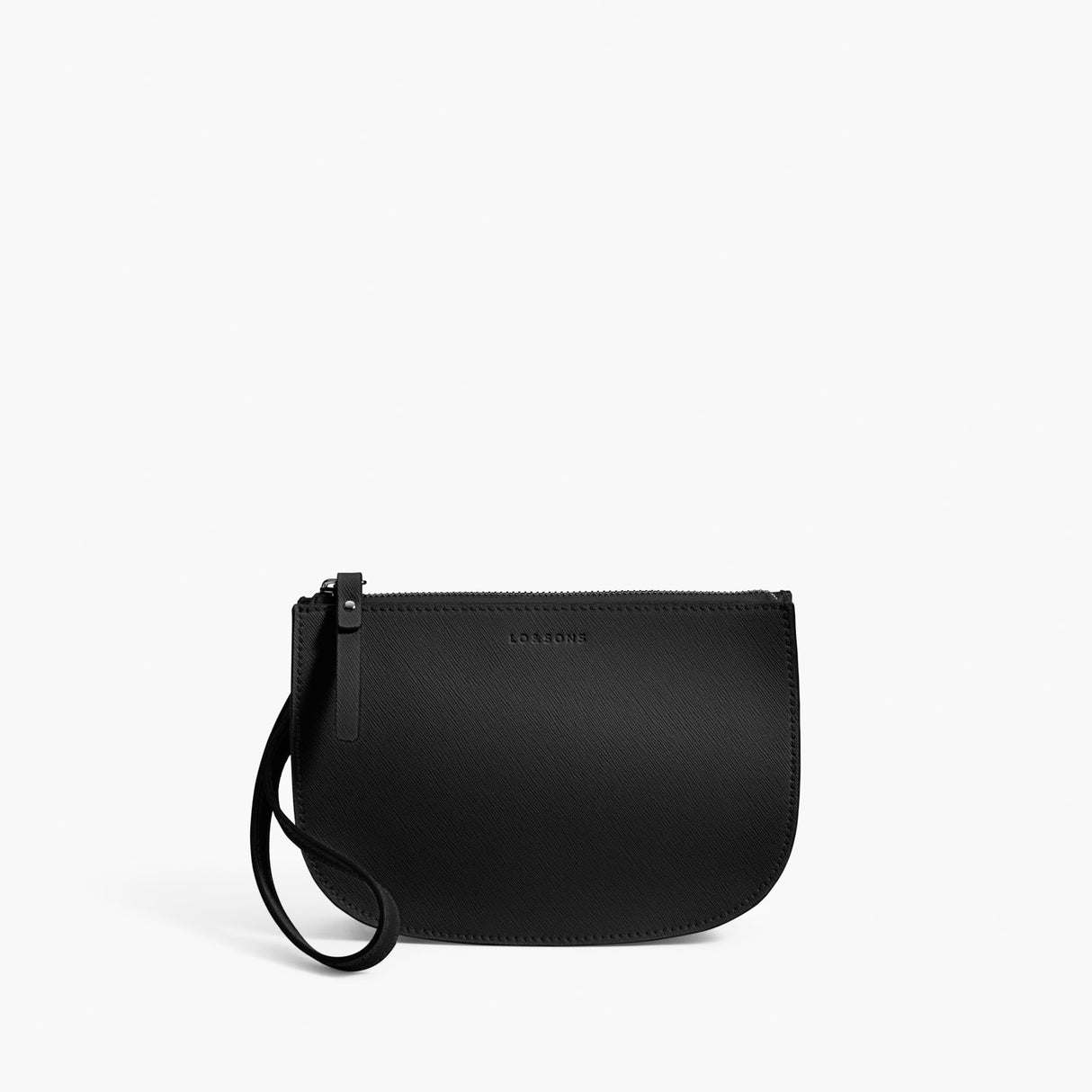 Front Wristlet - Waverley 2 - Saffiano Leather - Black / Gunmetal / Grey - Crossbody Bag - Lo & Sons