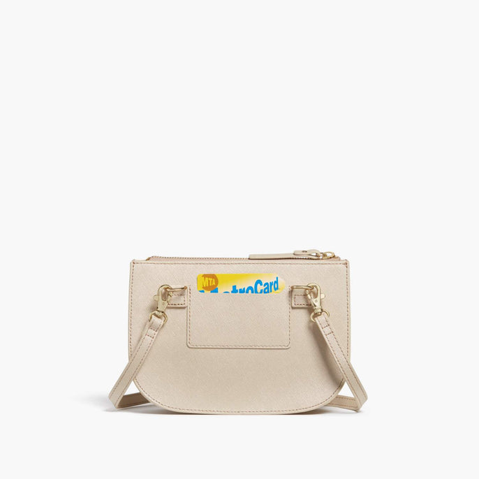 Back Card Slot - Waverley 2 - Saffiano Leather - Champagne / Gold / Camel - Crossbody Bag - Lo & Sons
