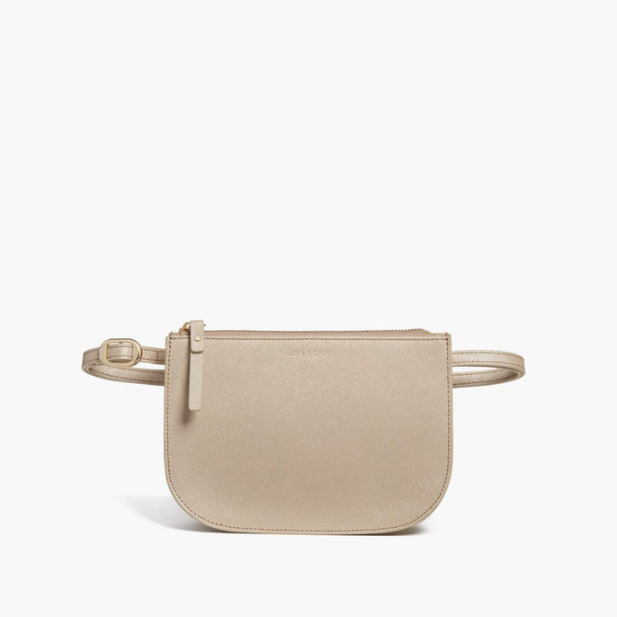 Belt - Waverley 2 - Saffiano Leather - Champagne / Gold / Camel - Crossbody Bag - Lo & Sons