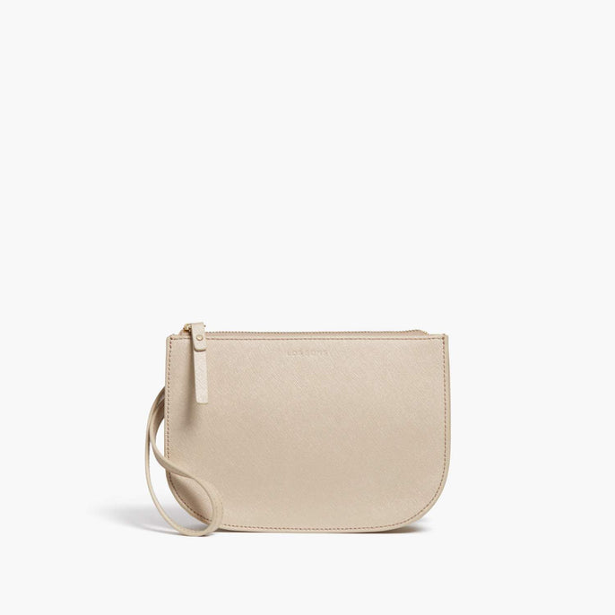 Front Wristlet - Waverley 2 - Saffiano Leather - Champagne / Gold / Camel - Crossbody Bag - Lo & Sons