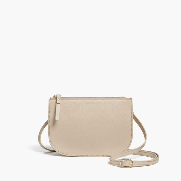 Front - Waverley 2 - Saffiano Leather - Champagne / Gold / Camel - Crossbody Bag - Lo & Sons