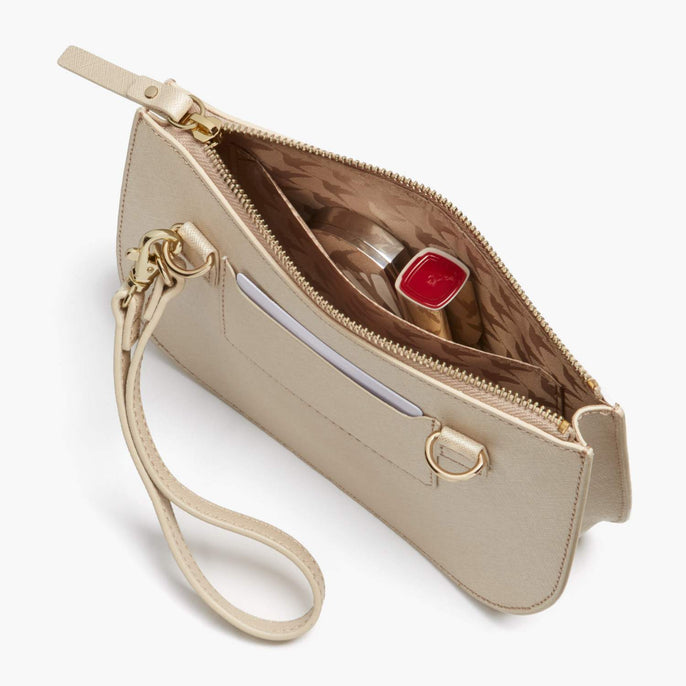 Interior Pocket - Waverley 2 - Saffiano Leather - Champagne / Gold / Camel - Crossbody Bag - Lo & Sons