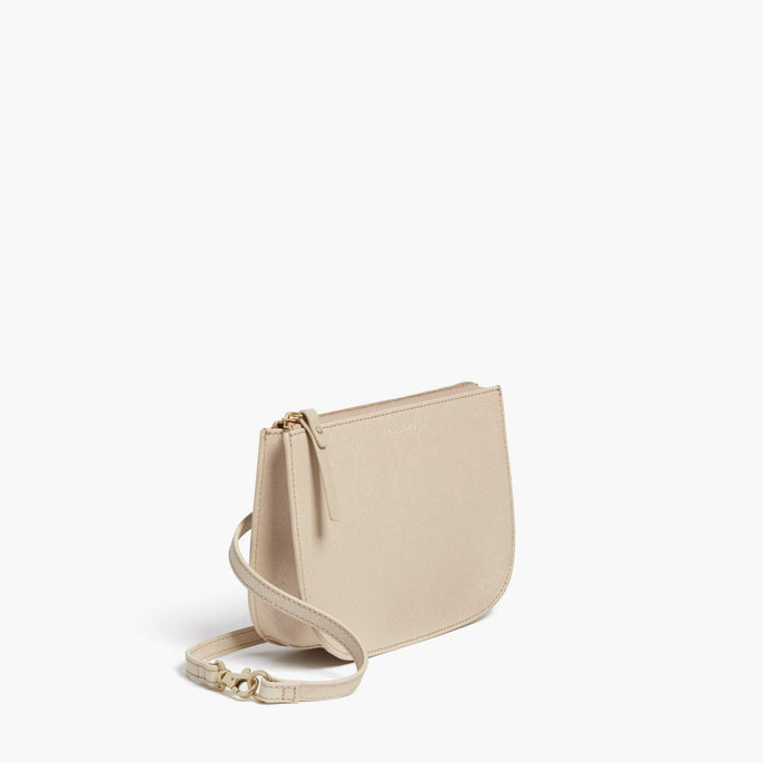 Side - Waverley 2 - Saffiano Leather - Champagne / Gold / Camel - Crossbody Bag - Lo & Sons