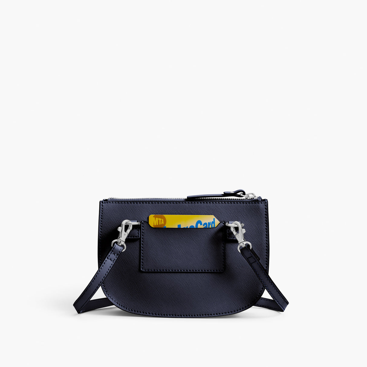 Back - Waverley 2 - Saffiano Leather - Deep Navy / Silver / Azure - Crossbody Bag - Lo & Sons