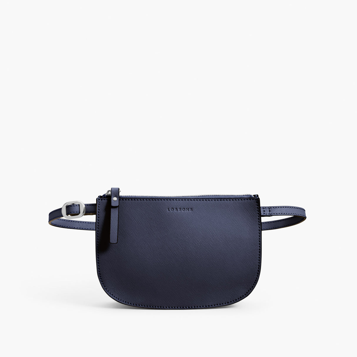 Front Beltbag - Waverley 2 - Saffiano Leather - Deep Navy / Silver / Azure - Crossbody Bag - Lo & Sons