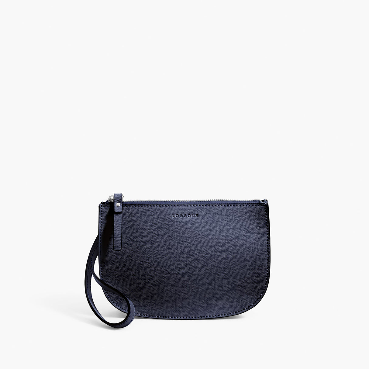 Front Wristlet - Waverley 2 - Saffiano Leather - Deep Navy / Silver / Azure - Crossbody Bag - Lo & Sons