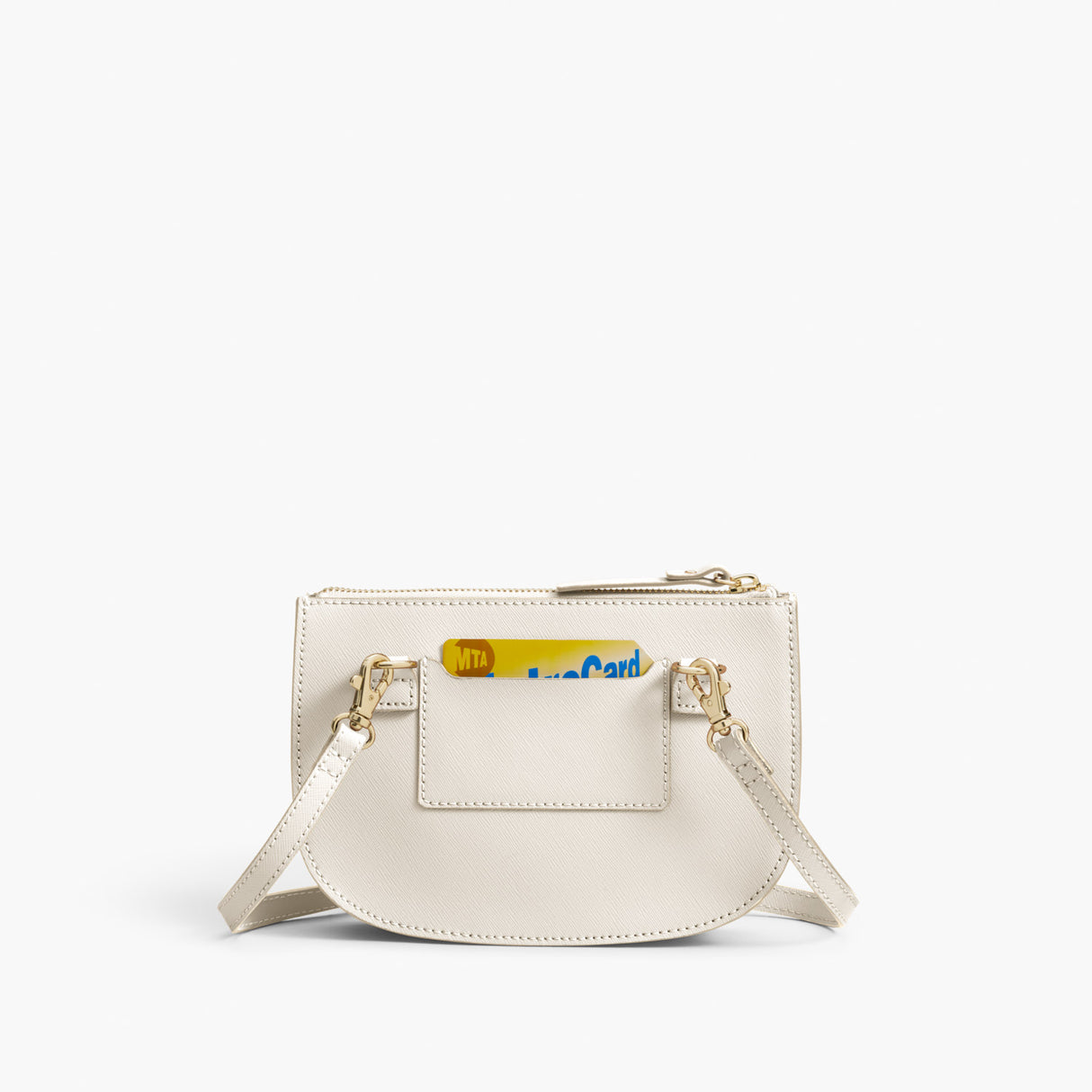 Back Crossbody - The Waverley 2 - Saffiano Leather - Ivory / Gold / Camel - Crossbody - Lo & Sons