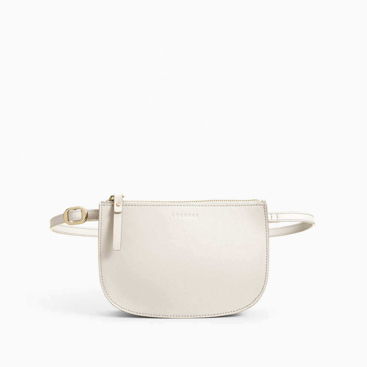 Beltbag Crossbody - The Waverley 2 - Saffiano Leather - Ivory / Gold / Camel - Crossbody - Lo & Sons