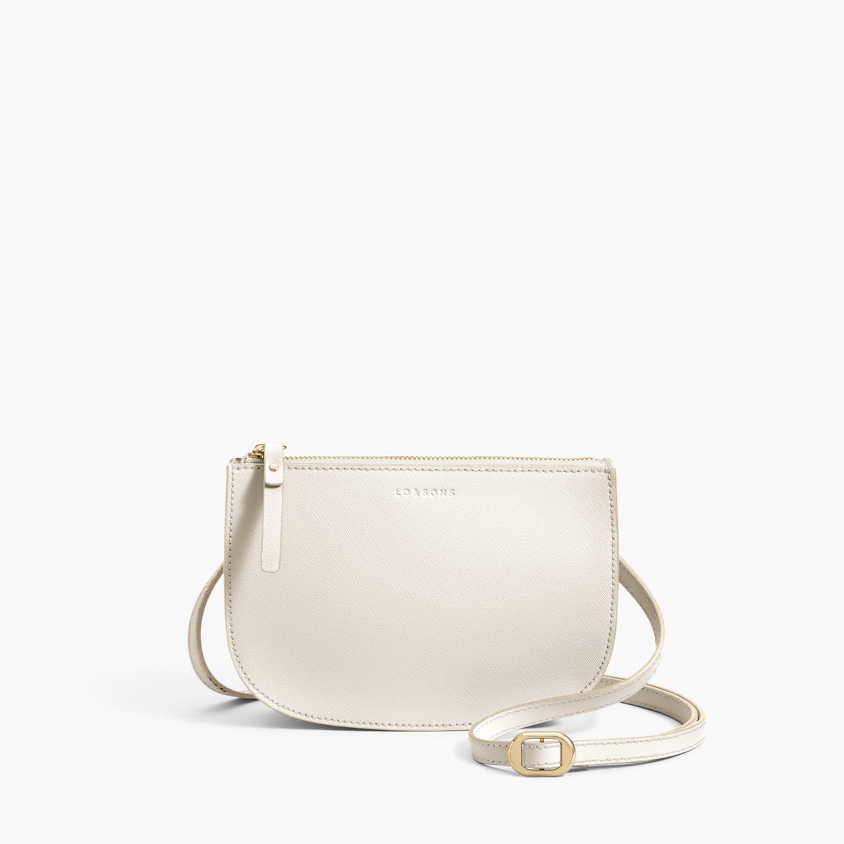 Front Crossbody - The Waverley 2 - Saffiano Leather - Ivory / Gold / Camel - Crossbody - Lo & Sons